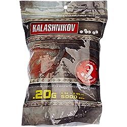 KALASHNIKOV 0,20 GR Billes 0,20gr Sac de 5000BB's Adulte Unisexe, Blanc, 10