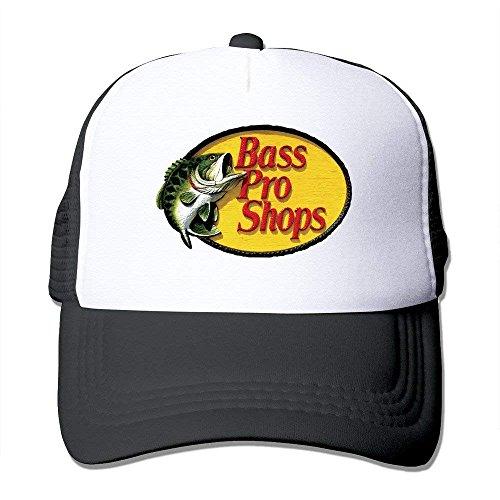Cap Hat Unisex Bass Pro Shops Logo Classic Mesh Back Trucker Cap Hat Black 869a93c37e49
