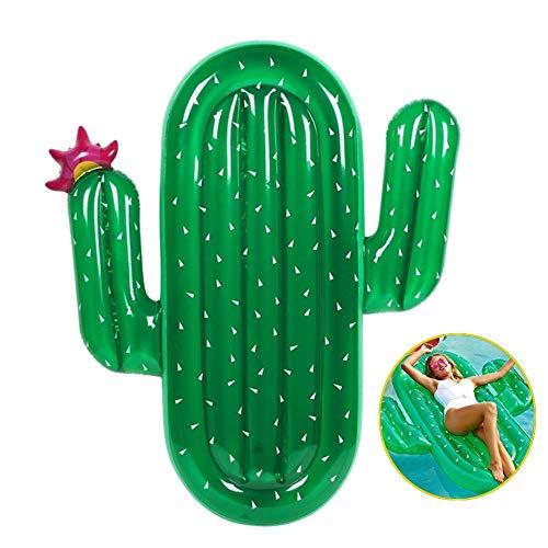 SanXingRui Aufblasbare Kaktus Luftmatratze Pool Schwimmgerät, Aufblasbare Luftmatratze Pool Lounger Aufblasartikel Strandspielzeug für Erwachsene & Kinder (Aufblasbarer Kaktus luftmatratze)
