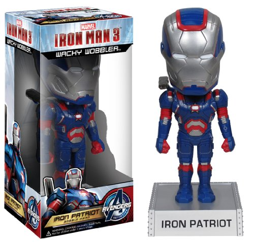 Iron Man 3 IRON PATRIOT Wacky Wobbler Wackelkopf
