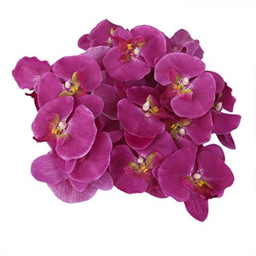 20x-Flor-Orqudea-Artificial-de-Pelo-Mueca-Decoracin-de-Boda-prpura