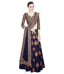 Vatsla Enterprise Women's Silk Lehenga (VSBHNLHNGH01_Blue_Free Size)