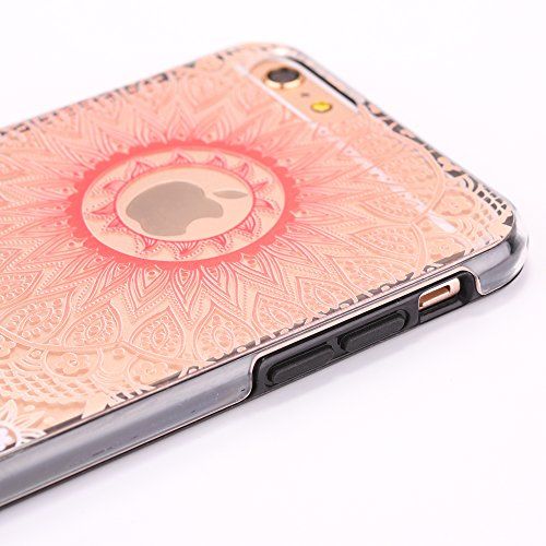 Custodia iPhone 6, iPhone 6S Cover, SainCat Custodia in Plastica Protettiva Cover per iPhone 6/6S, 3D Design Transparent Hard Case Ultra Slim Sottile Transparent Hard PC Cover Shock-Absorption Protett Tondo bianco viola