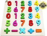 Easy Foxy Toy Holzpuzzle mit Grossen Zahlen 0-9, Holzspielzeug für Spielerisches Lernen von Zahlen, Motorikspielzeug ab 2 Jahre Rahmenpuzzle Geschenk für Kinder, Kinderpuzzle für Spiel Freude