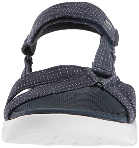 Skechers Damen On-The-Go 600-Brilliancy Knöchelriemchen Sandalen Blau (Navy)