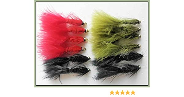 Woolly Bugger Trout Flies Mixed 8//10 Fishing Flies 8 Pack Black Woolly Buggers