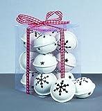 12 x White christmas Jingle Bells