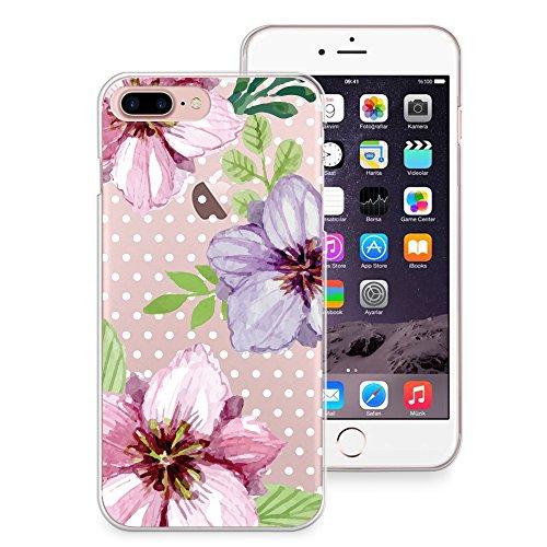 "CasesByLorraine, für iPhone 7 (4.7""), transparentes, flexibles TPU Soft Gel Back Cover | Back Case | Rückenschale | Hülle, Muster Wood Print Coral Pink Geometric Striped (G02) P53"
