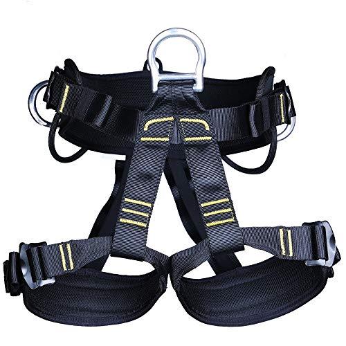 RMXMY Klettern im Freien, Abseilen, Ausdehnung, Luftarbeitsgurt, Kletterausrüstung, halblanger Höhlensicherheitsgurt -