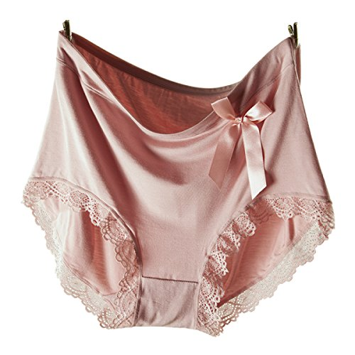 Frau Hohe Taille Sexy Modal Spitze Atmungsaktiv Slips Unterwäsche Kombination 4 Packungen A8