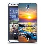 Head Case Designs Farbiger Sonnenuntergang Über Dem Meer Wundevolle Strände Ruckseite Hülle für HTC Desire 620/620 Dual SIM
