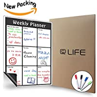 Magnetic Weekly Calendar Dry Erase, Large Multi Function White Board,  Monthlyu0026Weekly Organizer Planner