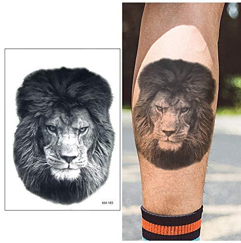 Temporäre Tattoos Schriftzug Small Arm Temporary Tattoo Sticker Fierce Fake Tatoo Lion Flash Tatto Waterproof Small Body Art Men Women 21 * 15Cm - Womens Lion Kostüm