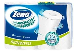 Zewa Wisch und Weg Haushaltstücher Reinweiss, 3er Pack (3 x 4 Rollen)