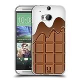 Head Case Designs Schmelzende Schokolade Schokoriegel Soft Gel Hülle für HTC One M8 / M8 Dual SIM