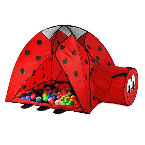 Kinder Spiel Zelt Red Beetle Castle Modellierung Ocean Ball Haus Indoor und Outdoor Spielzeug Big Tent Beach Zelte 120cm * 120cm * 97cm (enthält Nicht Ocean Ball)