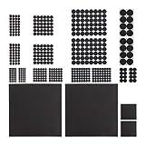 Relaxdays 500 x Möbelstopper, Rutschfest, Aufkleber, zuschneidbare Platten, runde Eva-Pads, Verschiedene Größen, schwarz