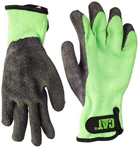 Cat Gloves Rainwear Boss Mfg–Strickhandschuhe Handschuhe wasserdicht Katze Boss Mfg Medium Fluorescent Grün beschichtet l-tex