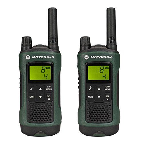 Motorola TLKR T81 Hunter Duo PMR Funkgerät Duo Pack (LCD-Display, Reichweite bis zu 10km, 968 Kanäle, PMR446 Radio) grün
