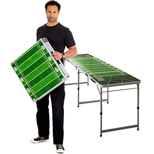 Evil JAREDS Beer Pong Table + 6 Beer Pong Bälle mit Logo | Tisch in College Qualität mit Offiziellen Maßen | Cooles American Football Design | inklusive Tragegriffe und integrierter Ballhalterung -