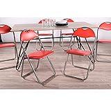 Lot de 6?pliante Chaise de bureau simili cuir rembourr? Assise de salle ? manger