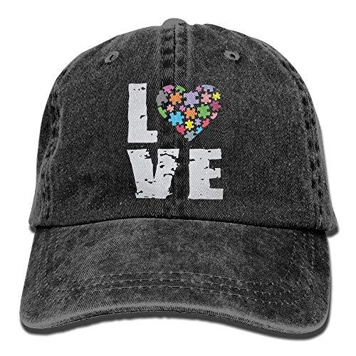 Adult Love Puzzles Autism Awareness Vintage Jeans Baseball Cap