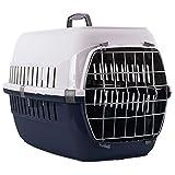 Dunkelblau Große Tiere Carrier 57x 35x 37cm Katze Kätzchen Rabit 8kg Transportbox + Geschenk
