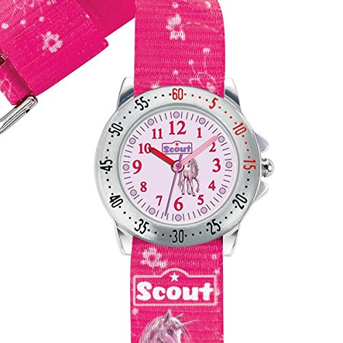 Scout Mdchen Analog Quarz Uhr mit Textil Armband 280378007 - 2