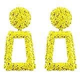 Jasnyfall Punk Style Frauen Große Geometrische Anhänger Lange Ohrhänger Modeschmuck geometrische Ohrringe für Frauen geometrische Ohrringe Farbe: gelb