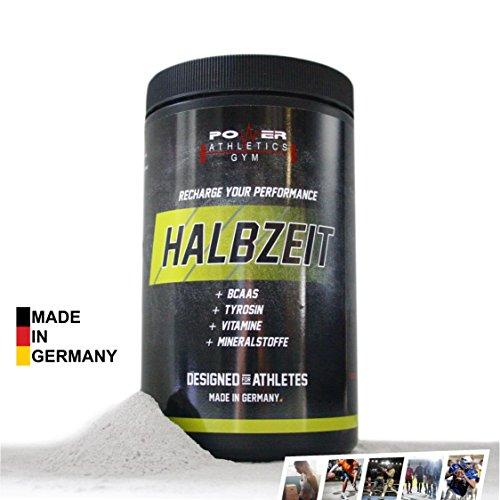 HALBZEIT für mehr Energie in der 2. Spielzeit - Entwickelt für Sportler, Vereinsspieler & Athleten. 25 Portionen. Hergestellt in Deutschland (Mann-sport Iso Amino)