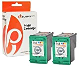 Bubprint 2 Druckerpatronen kompatibel für HP 344 HP344 für Deskjet 5740 6500 9800 Officejet 100 150 Mobile K7100 H470 Photosmart 335 8050 8450 Color