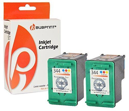 Bubprint 2 Druckerpatronen kompatibel für HP 344 HP344 für Deskjet 5740 6500 9800 Officejet 100 150 Mobile K7100 H470 Photosmart 335 8050 8450 Color -