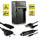 Neuheit - 4in1 Ladegerät mit micro USB Anschluss · 100% kompatibel mit NP-95 NP95 Akkus für Fuji Fujifilm FinePix F30 | F-30 | F31 | F-31 | F31fd | F-31fd | X100 | X100s | X-S1 | FinePix Real 3D W1 und weitere…