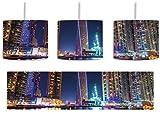 Dubai Burj al Arab inkl. Lampenfassung E27, Lampe mit Motivdruck, tolle Deckenlampe, Hängelampe, Pendelleuchte - Durchmesser 30cm - Dekoration mit Licht ideal für Wohnzimmer, Kinderzimmer, Schlafzimmer