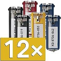 Durable Schlüsselanhänger mit Ring (12 Stück farbig sortiert)