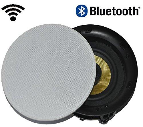 MARD AUDIO DAN-VAST-175, 2-Wege Bluetoothlautsprecher, Decken-Einbaulautsprecher mit Bluetooth, 1 Paar Boxen, Farbe: weiß