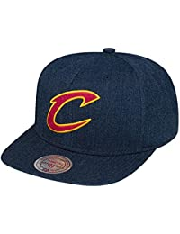 Mitchell & Ness Homme Casquettes / Snapback NBA Team Heather Cleveland Cavaliers bleu Réglable