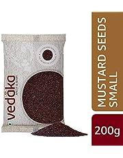 Amazon Brand - Vedaka Mustard Seeds (Rai) Small, 200g
