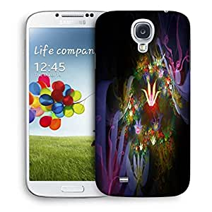 Snoogg Amazing Neon Flowers Printed Protective Phone Back Case Cover For Samsung S4 / S IIII