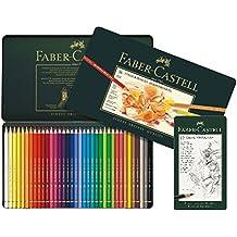 Faber-Castell 110036 - Künstlerfarbstift, 36 Polychromos Metalletui und Bleistifte 9000 12er Metalletui