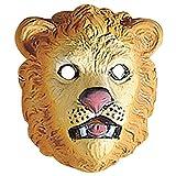 Masque lion pour enfant visage chat sauvage animal zoo déguisement cirque en plastique dur félin accessoire fête d'anniversaire d'enfants déguisement carnaval