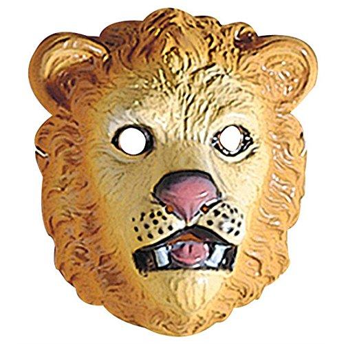 Löwenmaske Löwen Maske Hartplastik Wilde Katzenmaske Löwe Dschungel Tiermaske Leo Zoo Faschingsmaske Tier Tierkostüm Zubehör (Dschungel Tier Kostüme)