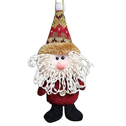 Alexio 1PCS Weihnachten Dekoration Zubehör Niedlich Santa Glocken-Puppen Weihnachtsbaum Schmuck Anhänger Geschenk für Zuhause Stil 1 - Größe 17*7cm