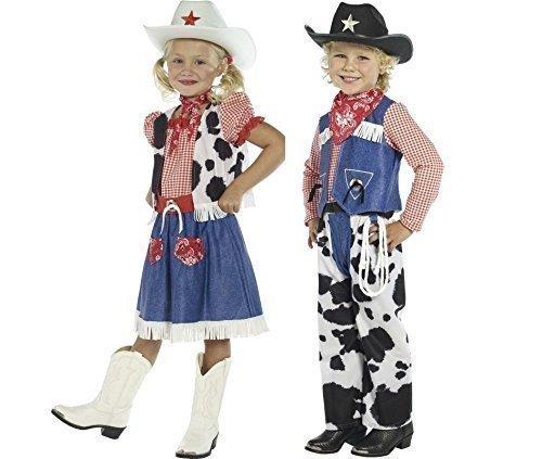 Palo de golf para niños diseño de chicas diseño de salvaje oeste diseño vaquero profesora Woody tipo libro Fancy Jessie disfraz infantil de atuendo e instrucciones para hacer vestidos 4-12 años Disfraz Vaquero