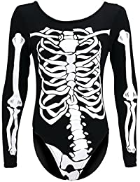 Trendy-Clothings Body imprimé squelette HALLOWEEN Taille 8 10 12