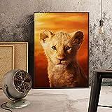 XWArtpic Amerikanischen 3D Cartoon Film Der König der Löwen Simba Poster drucken kinderzimmer Wohnzimmer Dekoration Bild leinwand malerei 60 * 100 cm