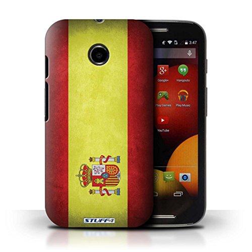 Kobalt® Imprimé Etui / Coque pour Motorola Moto E (2014) / Algérie conception / Série Drapeau Espagne/espagnol