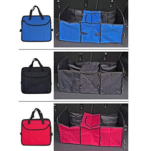 KT ' Spaltbare Cargo Trunk Storage, Rear Organizer Foldable Auto Car Bin Bag Box,Red - Cargo Travel Organizer