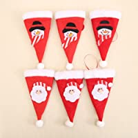 Happium - Christmas Cutlery Holders for Dinner Table - 6pcs