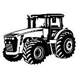 Wandtattoo Trecker Traktor in 8 Größen und 20 Farben (75x53cm schwarz)